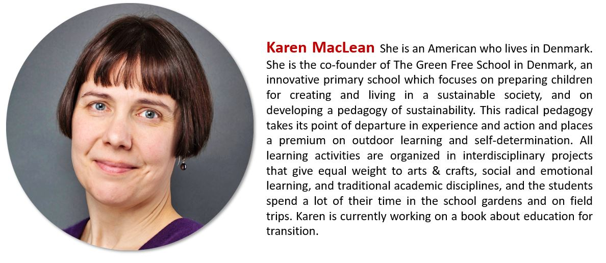 Kontakt zu Karen MacLean - Education for a sustainable tomorrow - karen@maclean.dk