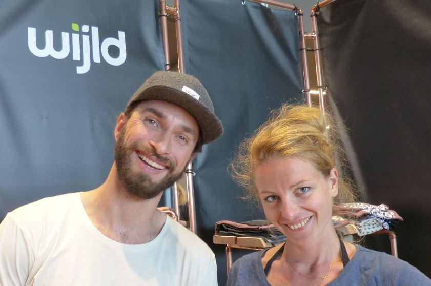Die Macher und Gründer von «wijld» aus Wuppertal. Aline Hauck und Timo Beelow.