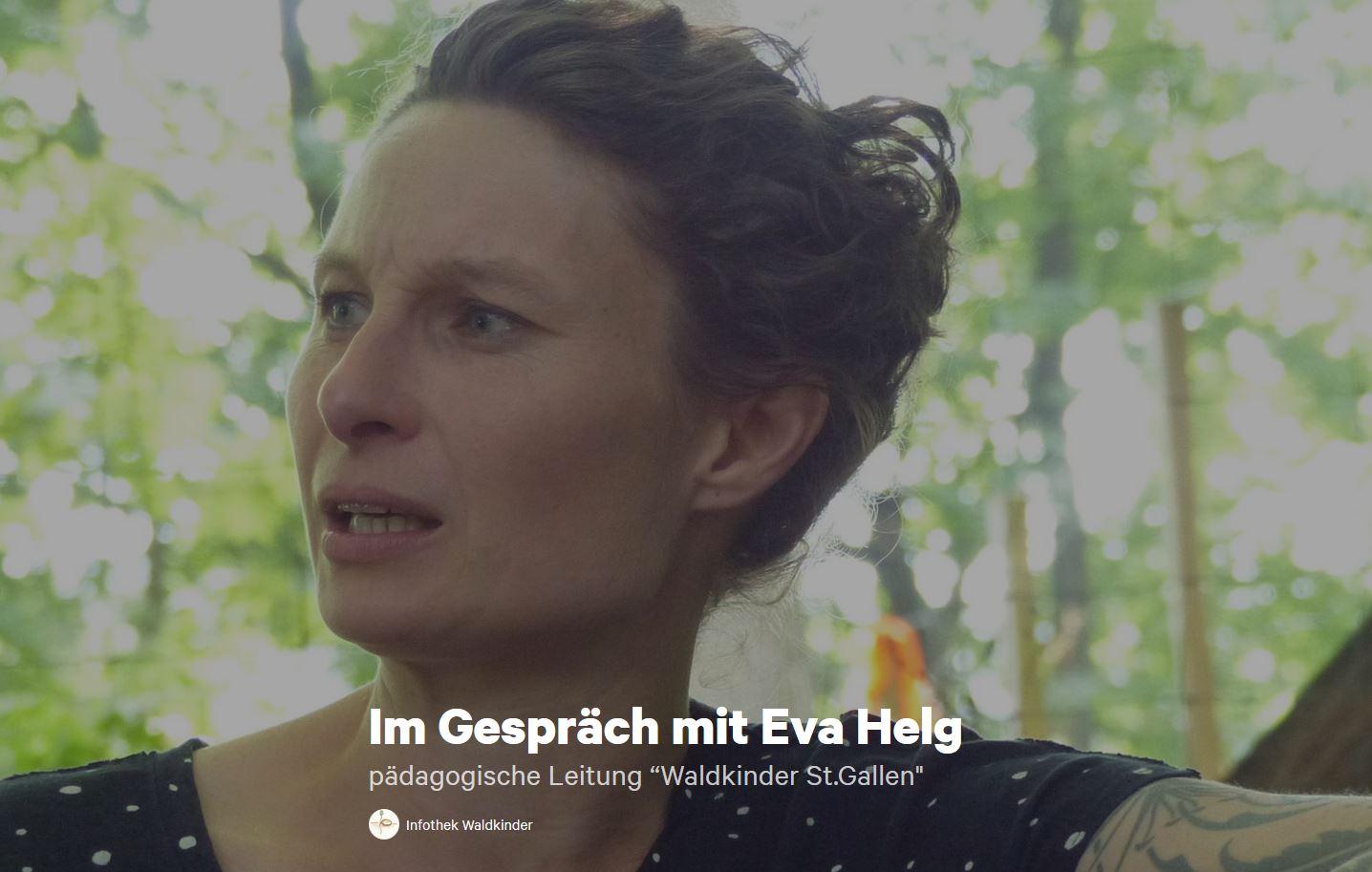 Die Infothek Waldkinder im Gespräch mit Eva Helg anschliessend an dem Vormittag in der Lokremise im Wald von Notkersegg