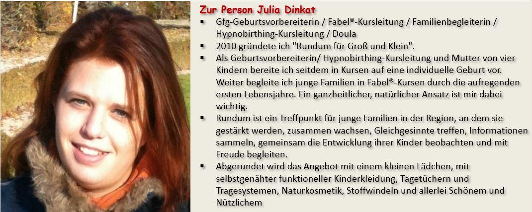 Wissenswertes zur Person Julia Dinkat