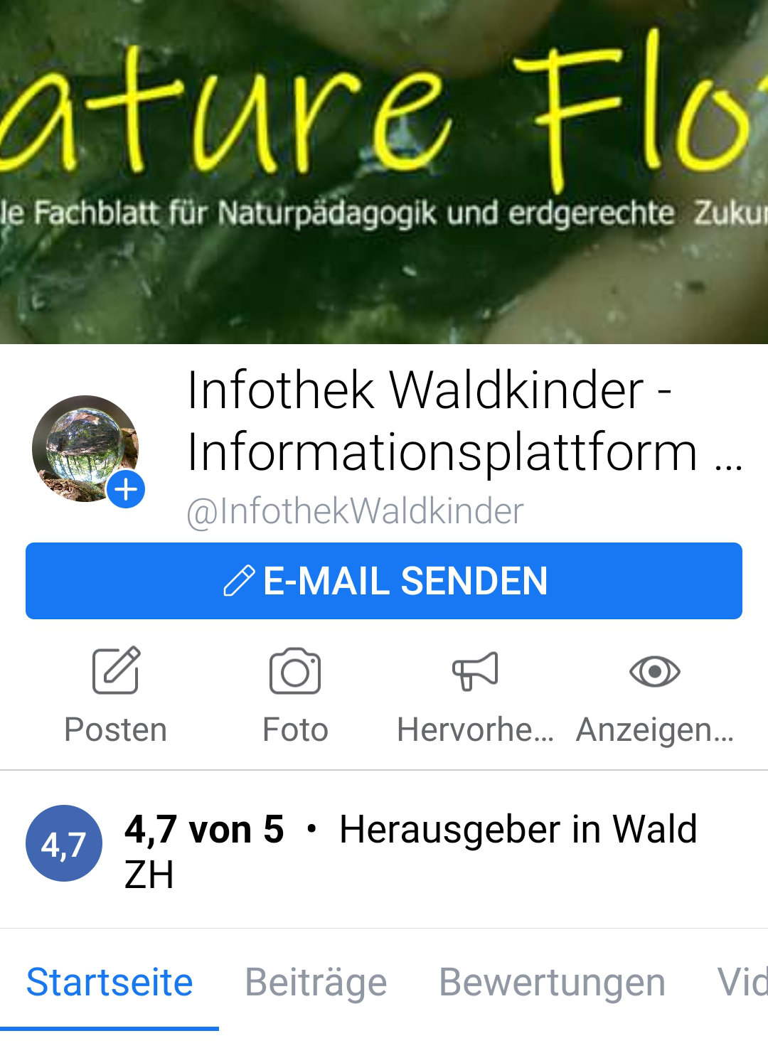 Das Fachblatt auf Social Media Infothek Waldkinder