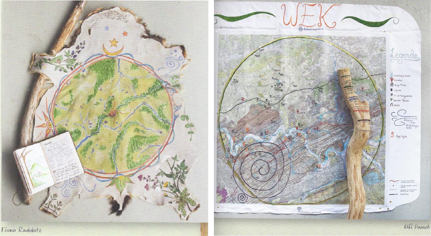 """Aus der Galerie - Karten der Verbundenheit aus dem Buch """"Das Geheimnis deines Ortes"""""""