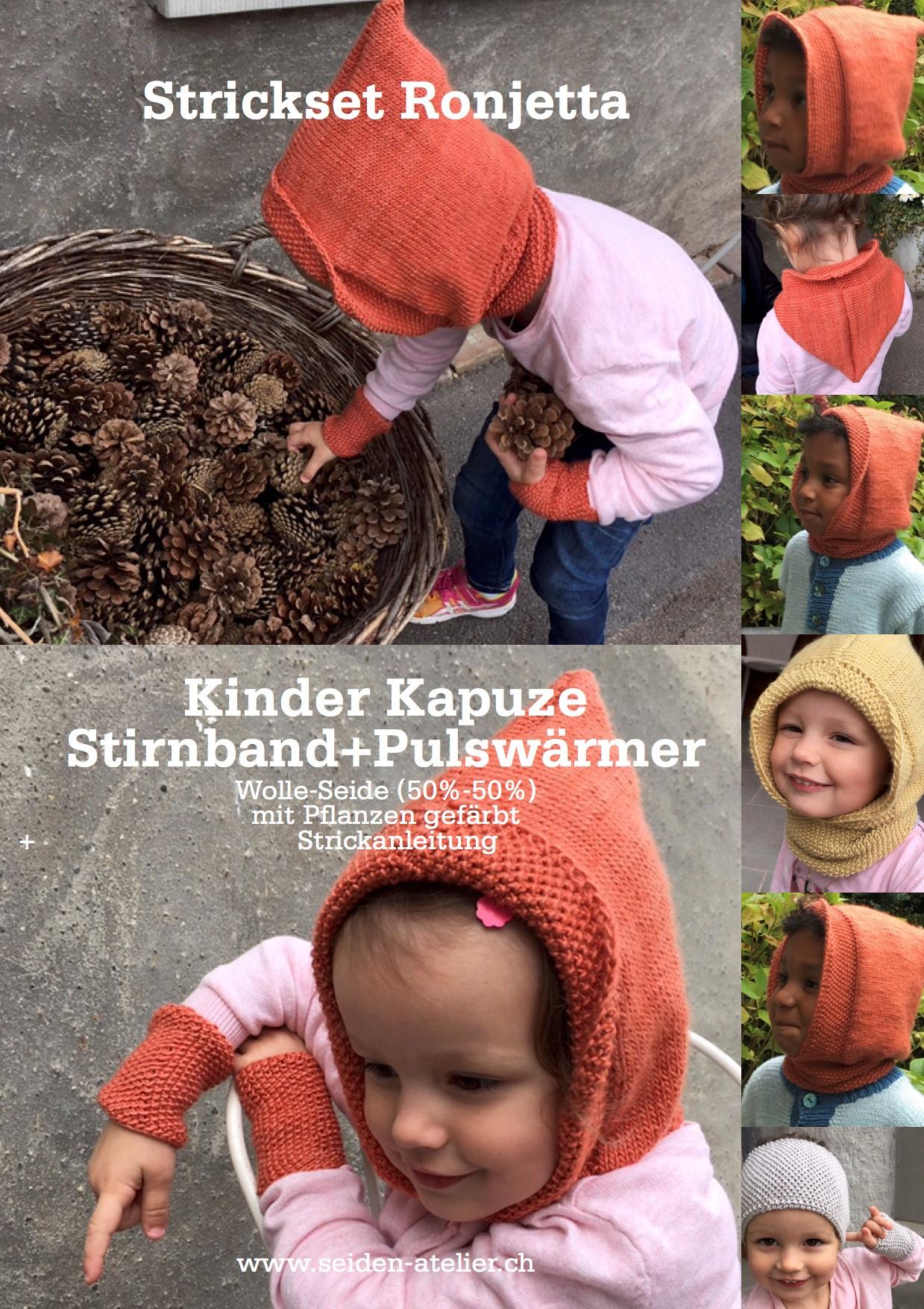 """Kapuzenschal """"Ronjetta"""" für wilde, furchtlose Kinder bei ihren Abenteuern im Wald und auf dem Spielplatz."""