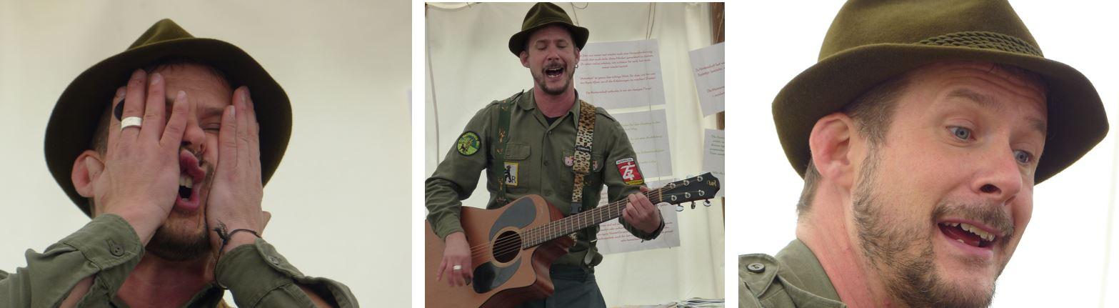 Marius Tschirky spielte ein Kinderkonzert beim grossen Elemente-Erlebnisfest von der Feuervogel Genossenschaft für Naturpädagogik im Oktober 2016