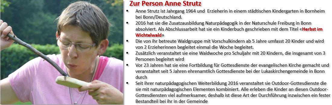Anne Strutz beim Löffelbrennen