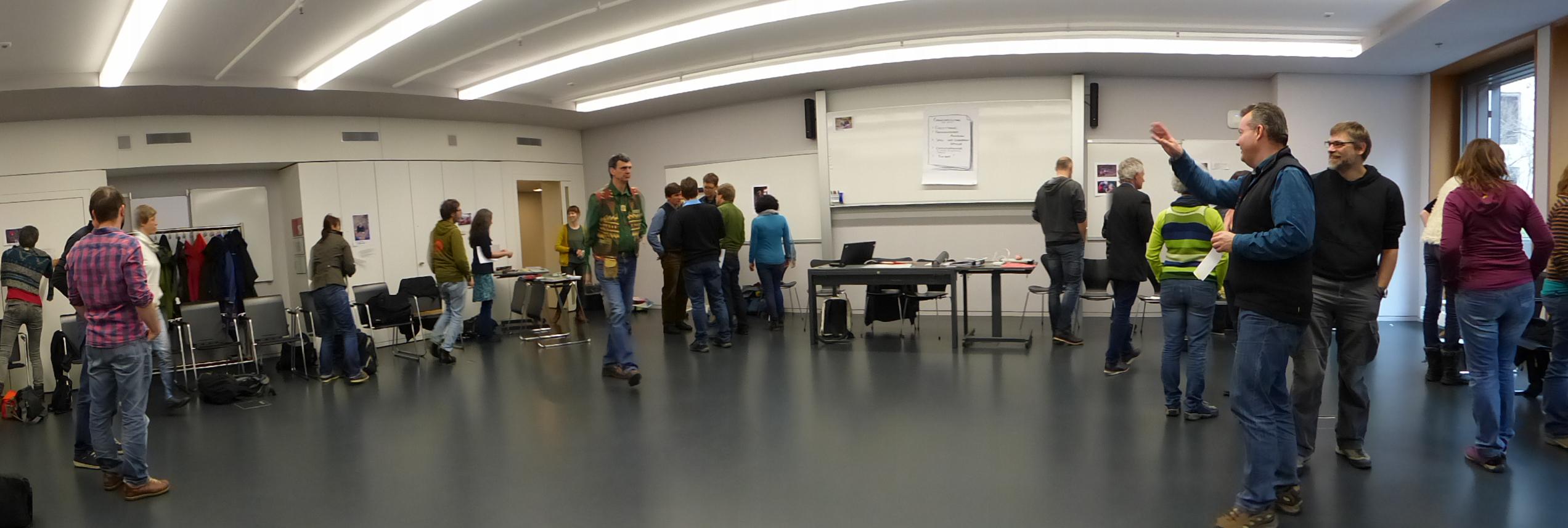 In den Räumlichkeiten der PH Zürich fanden die verschiedenen Interventionen der Akteure statt