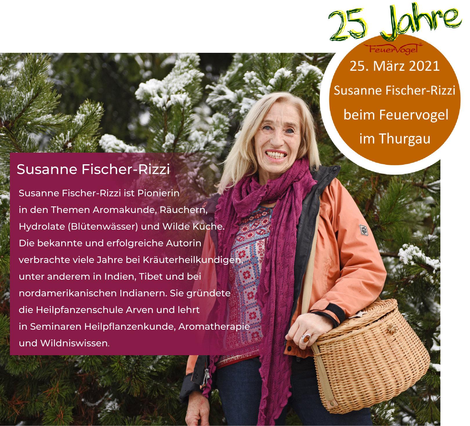 Die Autorin Susanne Fischer Rizzi im März bei der Genossenschaft Feuervogel in der Schweiz