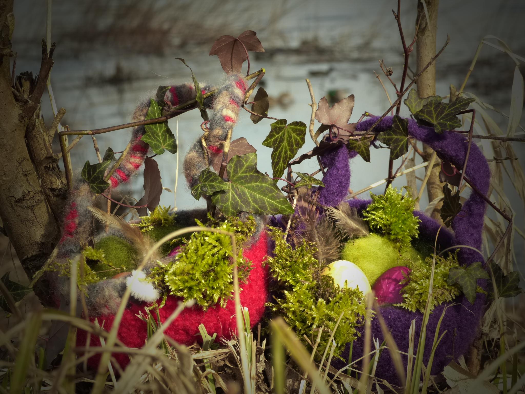 Anleitung für Osternester zum Selber machen....noch mehr Osterideen für den Wald gibt es in der Osterbox