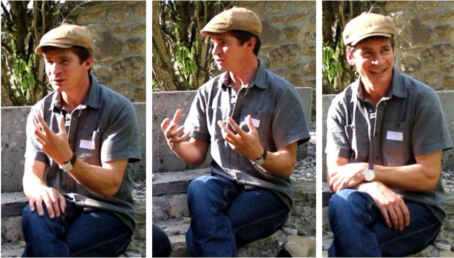 """Reto Bühler von planoalto hinterfragt in seinem Gespräch mit Christoph Lang, """"Welche Ethik steckt hinter dem Begriff Achtsamkeit?""""                     Pendant sa conversation avec Christoph Lang, Reto Bühler de planoalto remet en question«Quelle éthique se trouve derrière la pleine conscience?»"""