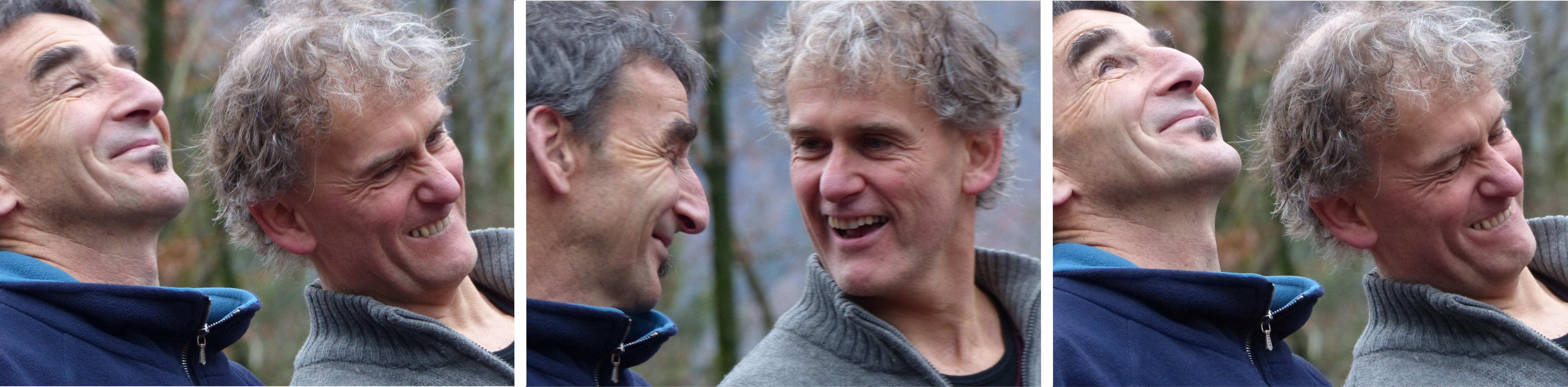 Didier Moser und Christoph Lang, die Mitgründer der Genossenschaft Feuervogel für Naturpädagogik