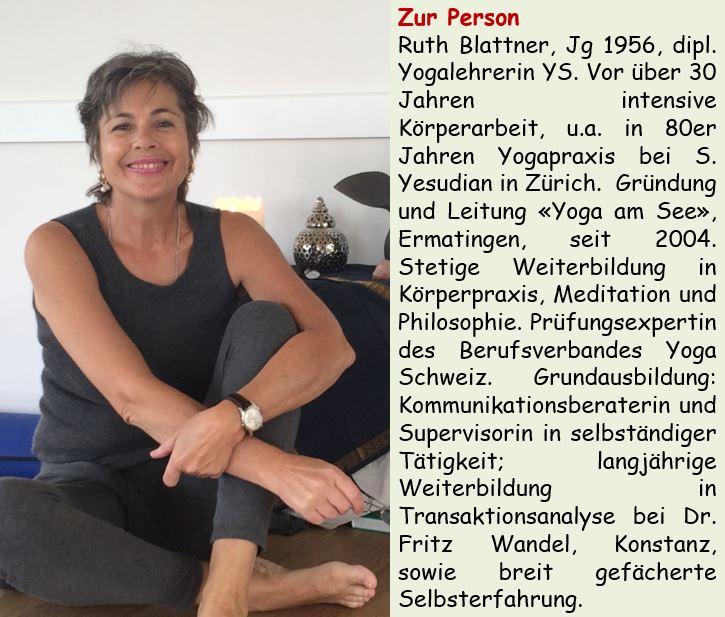 Ruth Blattner von Yoga am See in Ermatingen