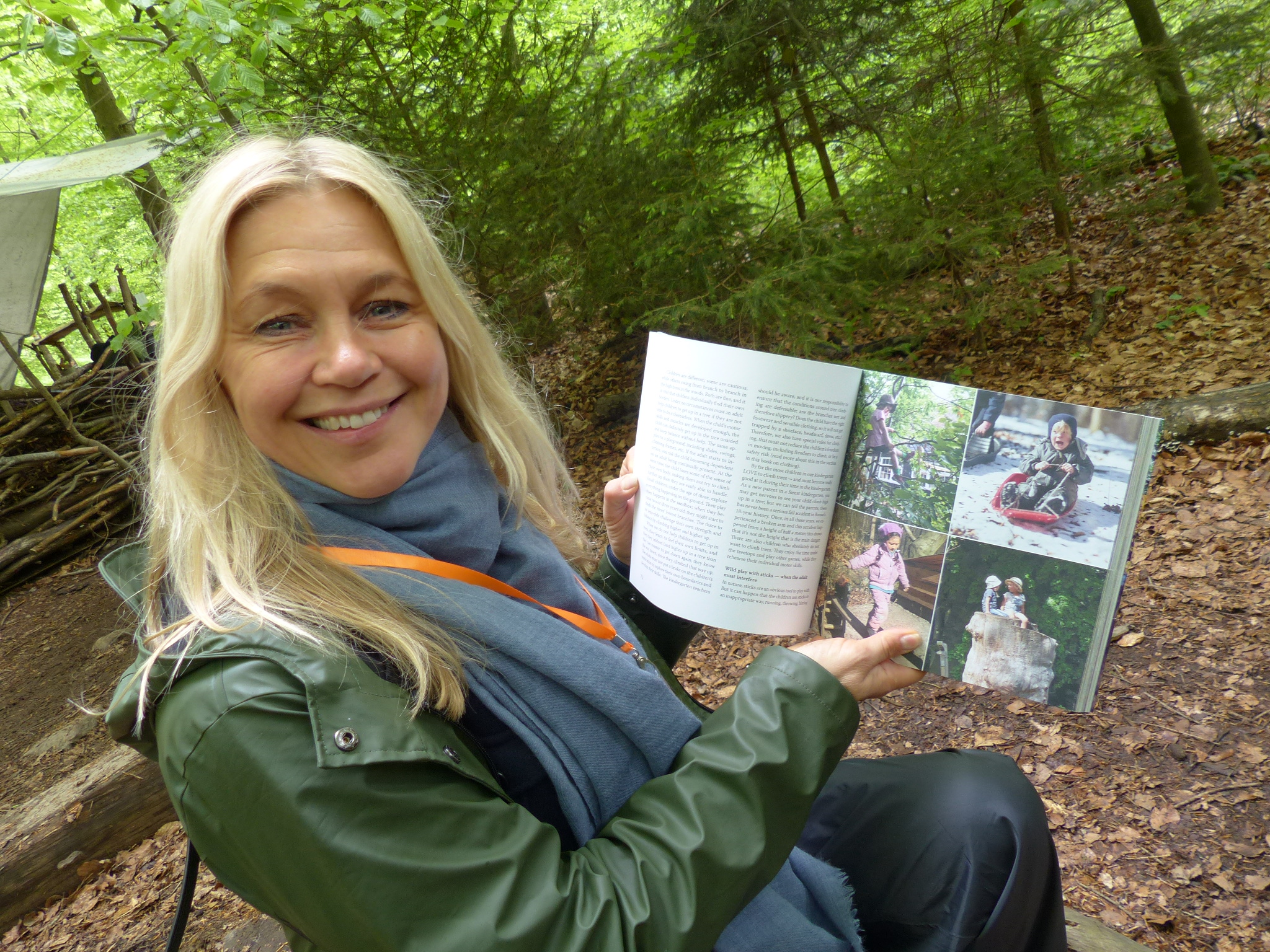 "Rikke Rosengren with her book ""Child of nature"""